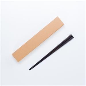 黒檀六角箸 男性用 拭き漆仕上げ/若畑唐木製作所