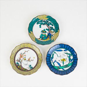【セット】MOOMIN JAPAN KUTANI -GOSAI- 松竹梅3枚セット/小皿/amabro