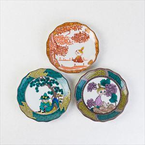 【セット】MOOMIN JAPAN KUTANI -GOSAI- 松桜牡丹3枚セット/小皿/amabro