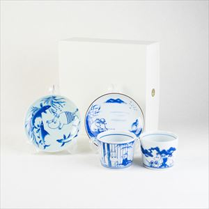 [Set] SOMETSUKE set / Moomin SOMETSUKE / Soba choko cup and plate / amabro