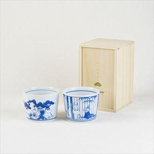 [Set] [Paulownia box] Pair cups / Moomin SOMETSUKE / Soba choko cup / amabro