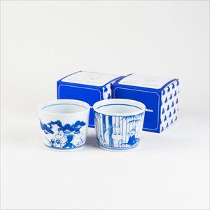 [Set] Pair cups / Moomin SOMETSUKE / Soba choko cup / amabro