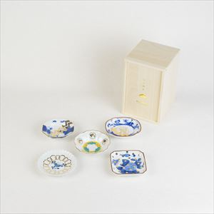 [Set of 5] [Paulownia box] Buyer recommended set / MAME series / Mamezara plate / amabro