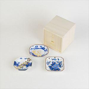 【セット】MAME トラディショナルセット 3枚組 桐箱入/豆皿/amabro
