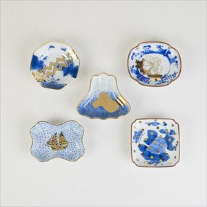 [Set of 5] Traditional set / MAME series / Mamezara plate / amabro