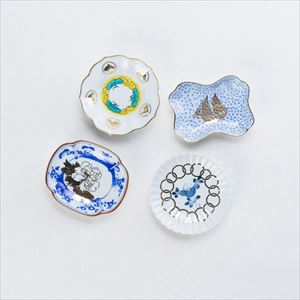 [Set of 4] Buyer recommended set / MAME series / Mamezara plate / amabro