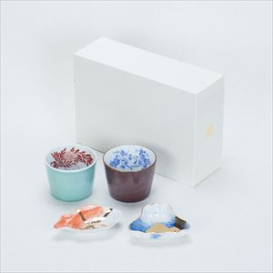 [Set] [Exclusive box] Retro modern set / CHOKU & MAME / Soba cups and Mamezara plate / amabro