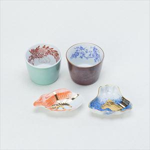 【セット】CHOKU & MAME レトロモダンセット 化粧箱入/豆皿 猪口/amabro_Image_1