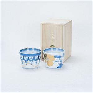 [Set] [Paulownia box] Pair cups / Rinpo & Sho-Chiku-Bai / CHOKU series / Soba cup / amabro
