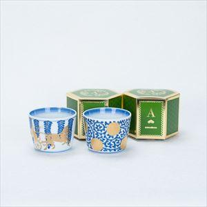 [Set] Pair cups / Tako-Karakusa & Fujibana / CHOKU series / Soba cup / amabro
