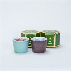 [Set] Pair cups / Celadon & Iron glaze / CHOKU series / Soba cup / amabro