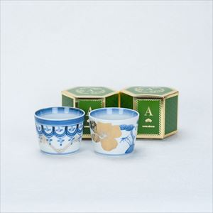 [Set] Pair cups / Rinpo & Sho-Chiku-Bai / CHOKU series / Soba cup / amabro