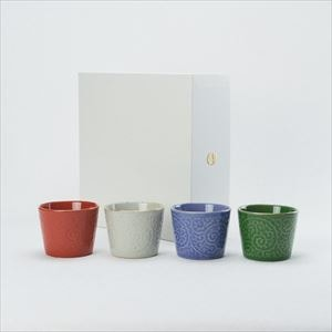 [Set of 4] [Exclusive box] ERI series / Soba cup / amabro