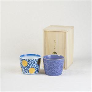[Set] [Paulownia box] Tako-Karakusa pair / CHOKU & ERI / Soba cup / amabro