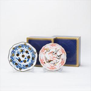 [Set of 2] Tako-Karakusa-Sho-Chiku-Bai-Mon-Rinka and Tulip-Mon-Rinka / NAMASU series / Deep dish / amabro