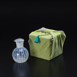 [Handkerchief wrapping] Soy Sauce Cruet / Tokusa / Taisho Roman Glass / Hirota Glass