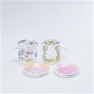 【セット】ティーメイト フラワーペア&Arita Jewel Round 2枚セット 化粧箱入_Image_1