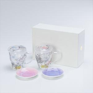 【セット】ティーメイト リリー・ローズペア&Arita Jewel Round 2枚セット 化粧箱入