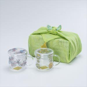 【セット】ティーメイト フラワーペア 布巾包/セメントプロデュースデザイン