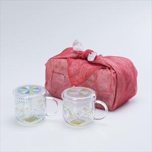 【セット】ティーメイト メリーゴーランドペア 布巾包/セメントプロデュースデザイン