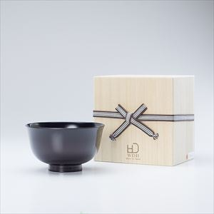 具沢山汁椀 本塗り 黒(桐箱入り)/お椀/WDH