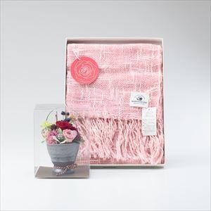 【セット】オーガニックストール&プリザーブドフラワーアレンジ バラ セット/ローズ