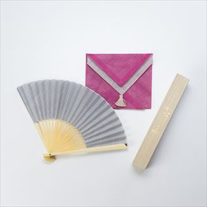 [Handkerchief wrapping] Japangarde fan / Tamoto / Gray / Nishikawa Shouroku shouten