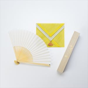 [Handkerchief wrapping] Japangarde fan / Tamoto / White / Nishikawa Shouroku shouten