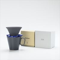 [Set] Caffe hat (Navy) / Mug (Large Black / Mat series)
