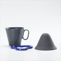 【セット】コーヒー道具 Caffe hat navy &生涯を添い遂げるマグ ラージブラックマット 有田焼 セット_Image_1