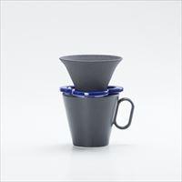 【セット】コーヒー道具 Caffe hat navy &生涯を添い遂げるマグ ラージブラックマット 有田焼 セット_Image_2