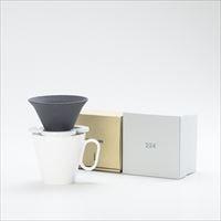 【セット】コーヒー道具 Caffe hat white &生涯を添い遂げるマグ ラージホワイトマット 美濃焼 セット