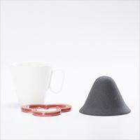 [Set] Caffe hat (Red) / Mug (Large White / Mat series)_Image_1