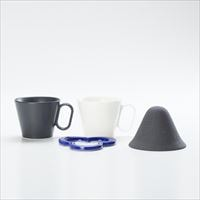 [Set] Caffe hat (Navy) / Mug×2 (Black & White / Mat series)_Image_1