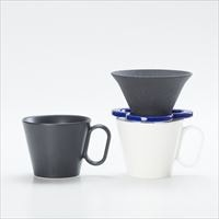 [Set] Caffe hat (Navy) / Mug×2 (Black & White / Mat series)_Image_2