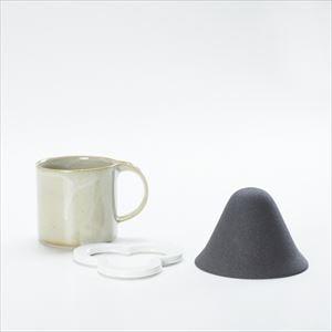 【セット】コーヒー道具 Caffe hat white &マグカップ/モデラート マグ グレー セット_Image_1