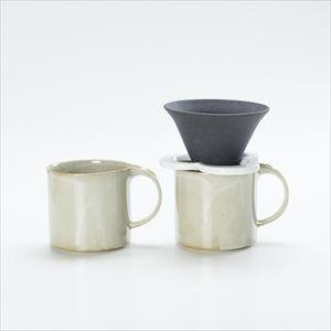 【セット】コーヒー道具 Caffe hat white &マグカップ/モデラート マグ グレー ペアセット_Image_2