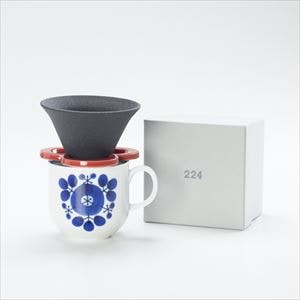 [Set] Caffe hat (Red) / Mug (Bouquet / Bloom series)