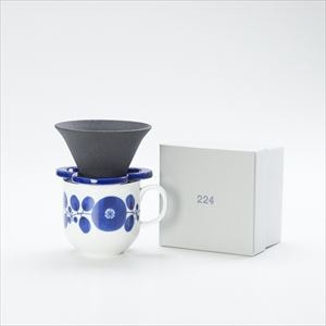 [Set] Caffe hat (Navy) / Mug (Wreath / Bloom series)