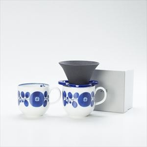 [Set] Caffe hat (Navy) / Mug×2 (Wreath / Bloom series)