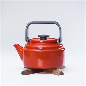 [Set] Amukettle 2L Red / Nabeshiki house Walnut