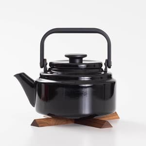[Set] Amukettle 2L Black / Nabeshiki house Walnut