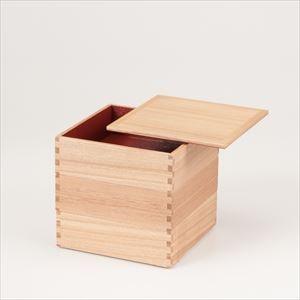 白木(タモ)の三段重 6寸重箱 内朱/松屋漆器店