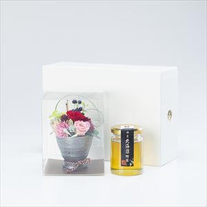 【セット】お花と国産はちみつギフトセット  化粧箱入/北海道