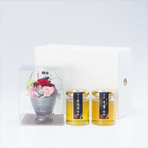 【セット】お花と国産はちみつギフトセット 化粧箱入/北海道&万華