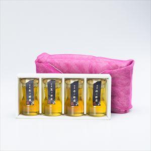 四季の国産蜂蜜詰め合わせ ふきん包