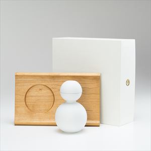 [Set] [Exclusive box] Shuki daruma (Bisque) / Wooden bread board SENRO S