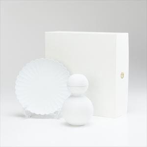 【セット】酒器だるま ビスク(艶なし)&パレスプレート小 セット 化粧箱入/酒器