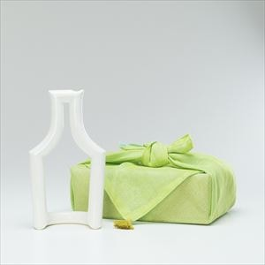 [Dish cloth wrapping] Still green / Flower vase / Liquor / M / ceramic japan