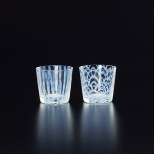 [Set] Pair Taisho Roman Glass / Nami & Tokusa / Hirota Glass